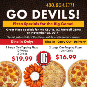 tempe asu pizza specials - pizza and wing special tempe az